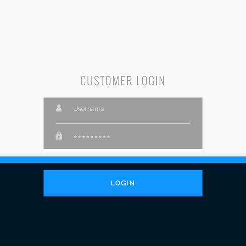 flat login form template design for your web or app projects