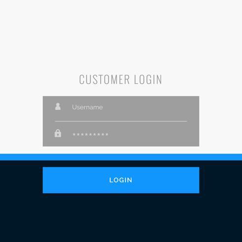 Flaches Anmeldeformular-Template-Design für Ihre Web- oder App-Projekte