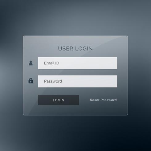 dark login ui design template