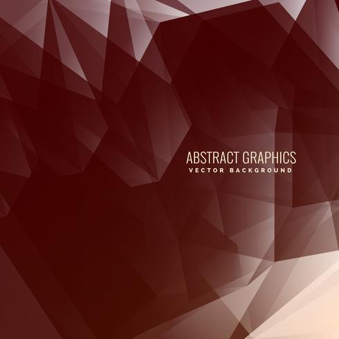 abstract low poly brown background