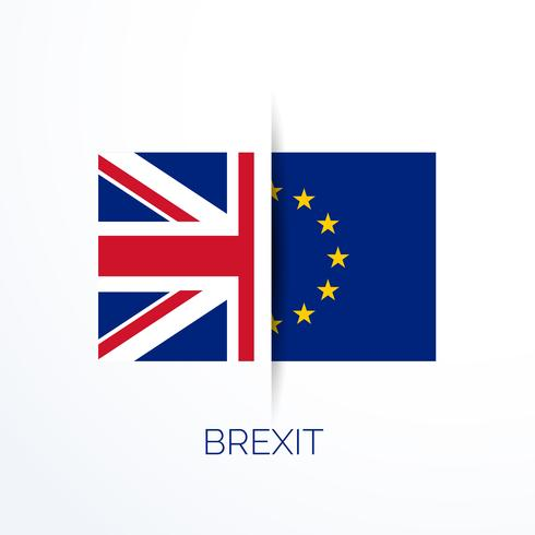 brexit referensum with uk and eu flags