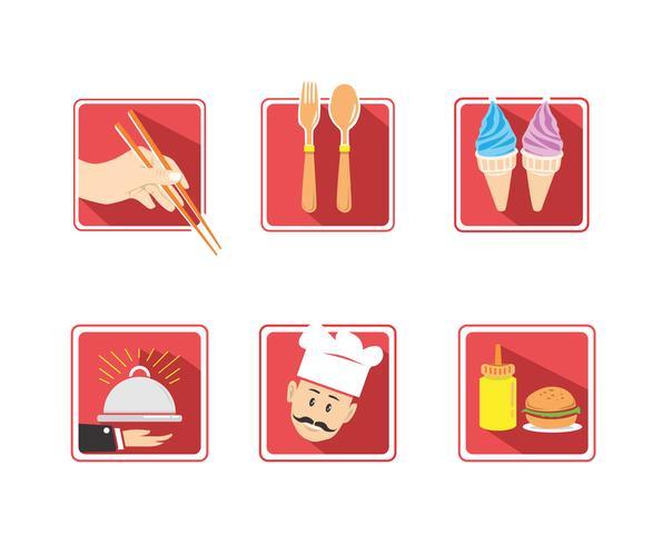 Resto App Icons Vector