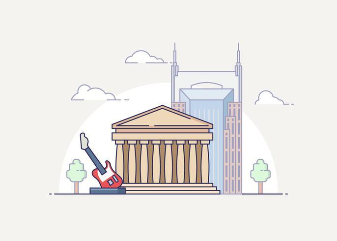 Nashville landmark illustratie
