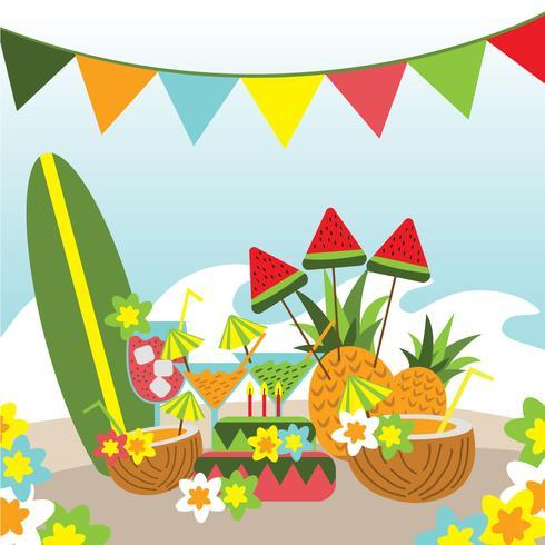 Polynesien-Geburts-Tagesparty-Elemente