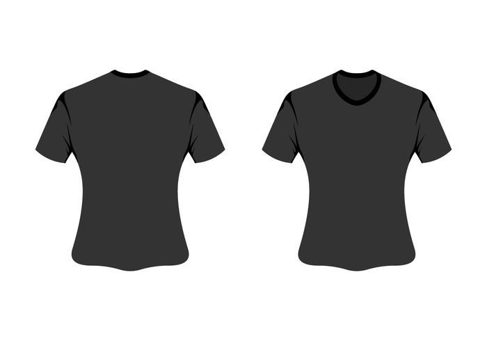 vector blank t-shirt template