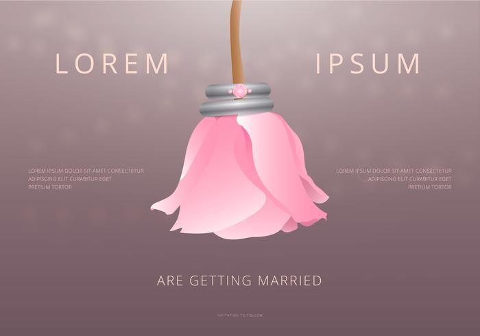 Boda bruiloft uitnodiging sjabloon vector