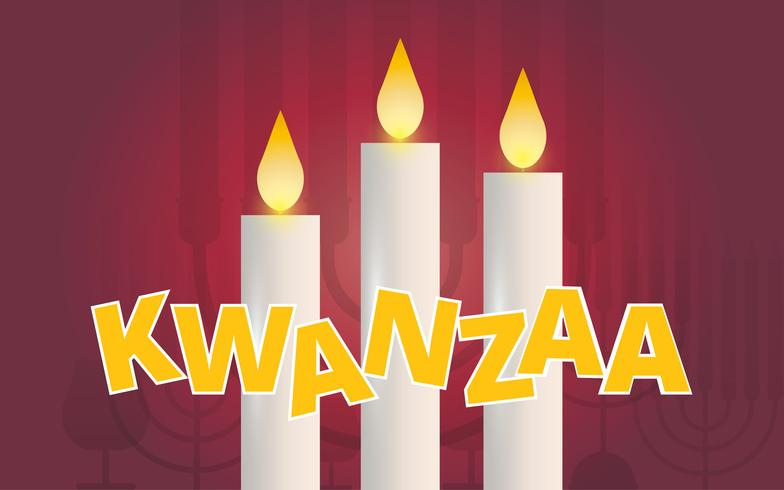 Kwanzaa Illustration Greetings. African American holiday festival of harvest.