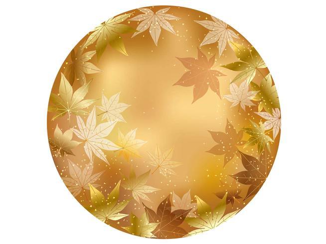 Gouden, cirkel herfst achtergrond illustratie.