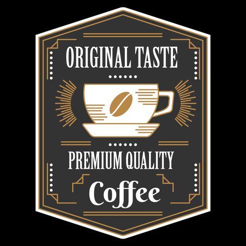 Vecteur de Badge café