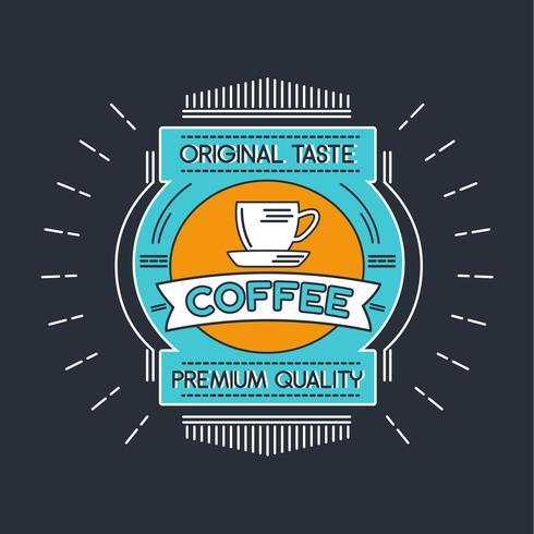 Koffie Badge Illustratie