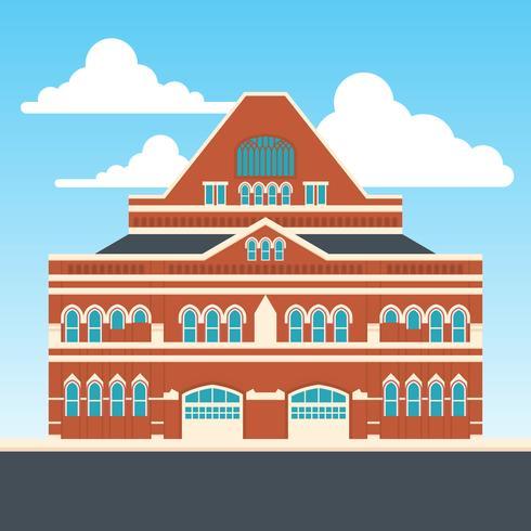 Ilustración plana de Ryman Auditorium