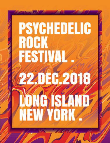 Affiche du festival de rock psychédélique
