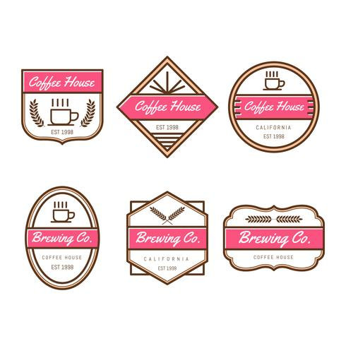 Koffie Badges Vector-collectie