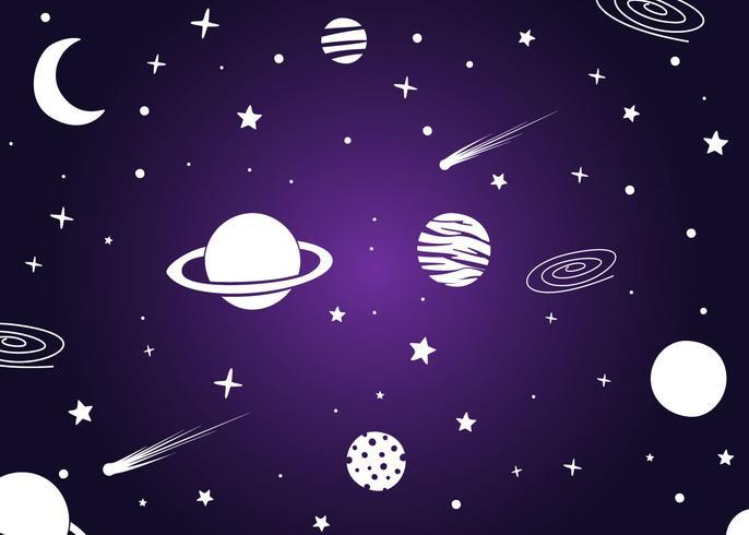 uitstekende ultraviolette galactische achtergrondvectoren