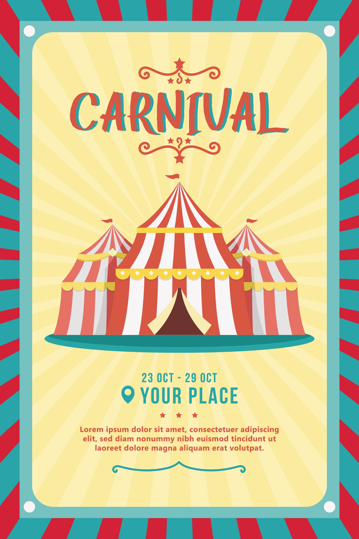 Carnival Poster Vector - Download Free Vector Art, Stock ...