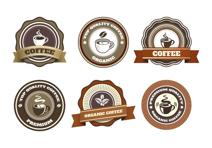 collection de vecteur de badge café