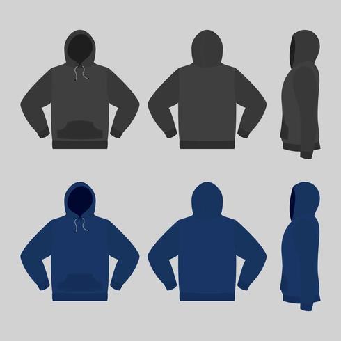 Leere Kapuzen-Sweatshirt-Vorlage Illustration