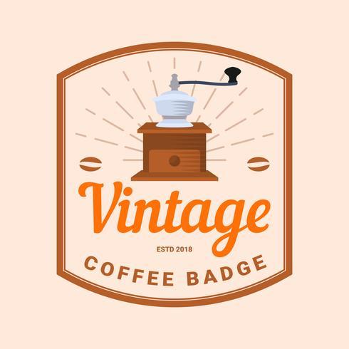 Platte Vintage koffie badge Vector