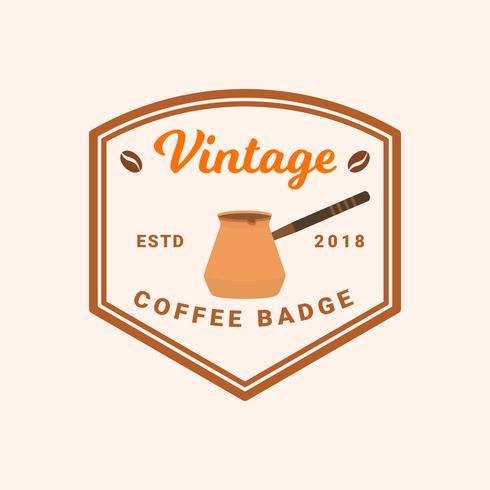 Flacher Weinlese-Kaffee-Ausweis-Vektor