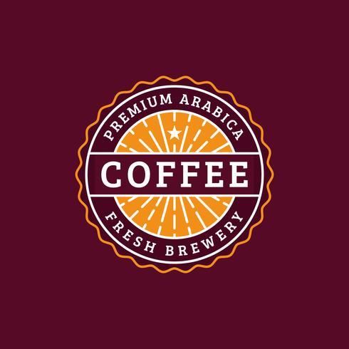 Insignia de café de la vendimia