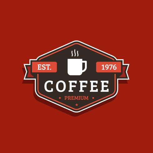 Vintage koffie-badge