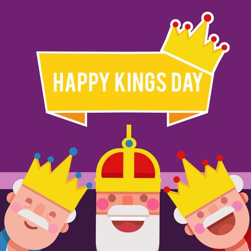 Illustrazione vettoriale di Kings Day
