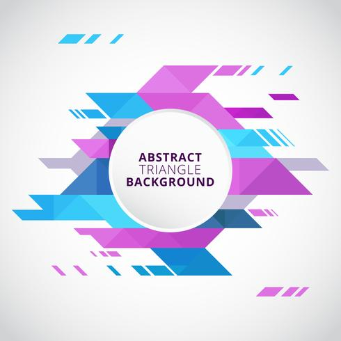 Abstract Triangles Vector Background