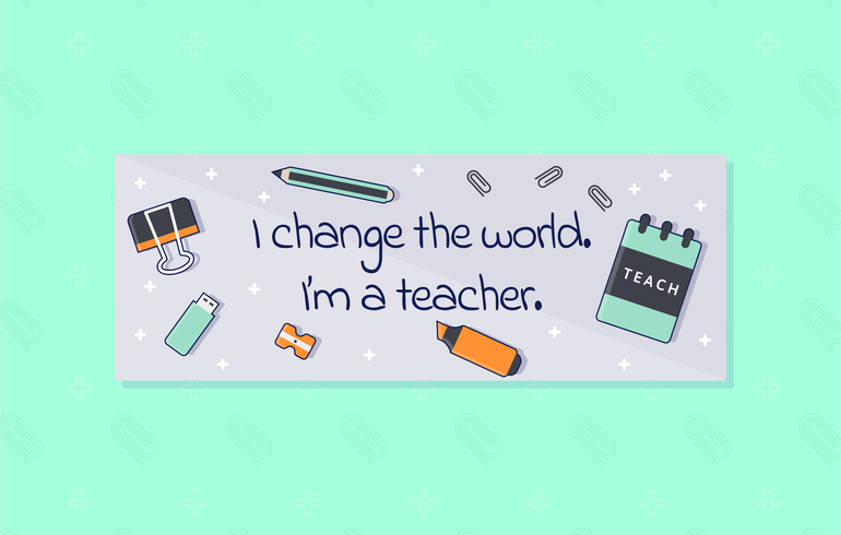 Unique Teacher Facebook Cover Vectors