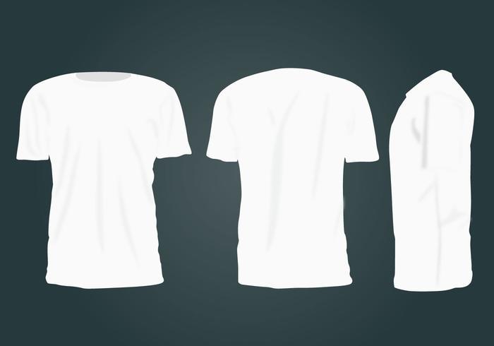 Vetor em branco do modelo de t-shirt