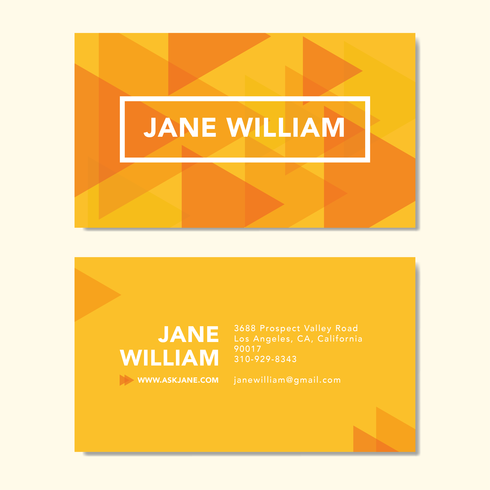 Abstract Prism Business Card