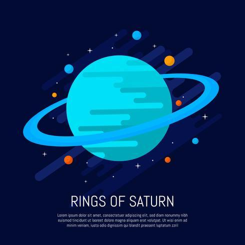 Anillos de la ilustración vectorial de Saturno vector
