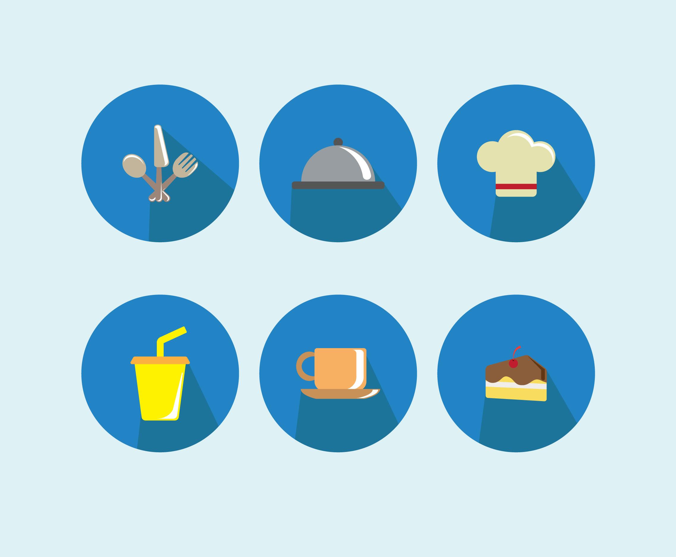 Canteen Icons Vector Download Free Vectors Clipart