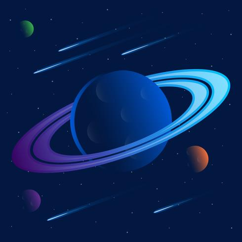 Saturn Rings Background Illustration