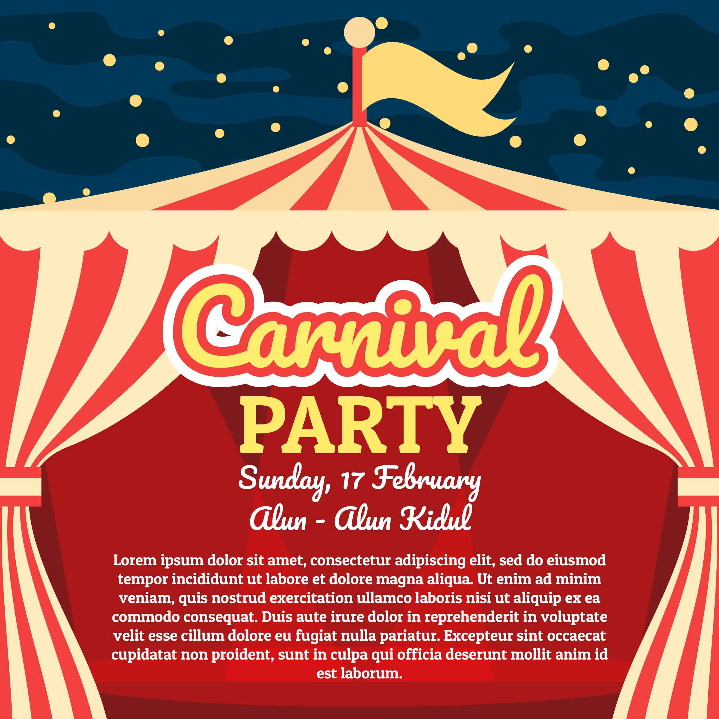 Carnival Poster - Download Free Vector Art, Stock Graphics ...