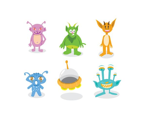 Cute Aliens Vector