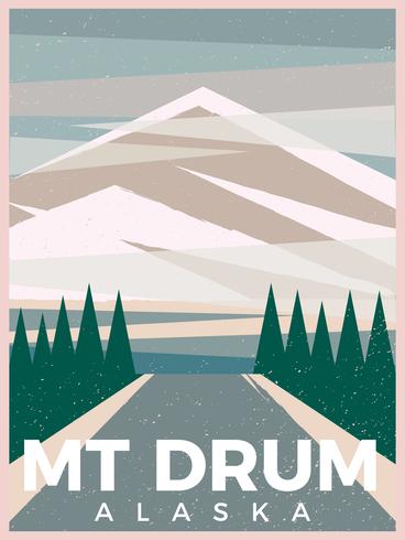 Mountain Drum Alaska Postcard