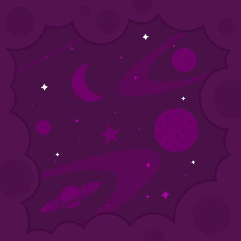 Ultra Violet Galactic Background Vector