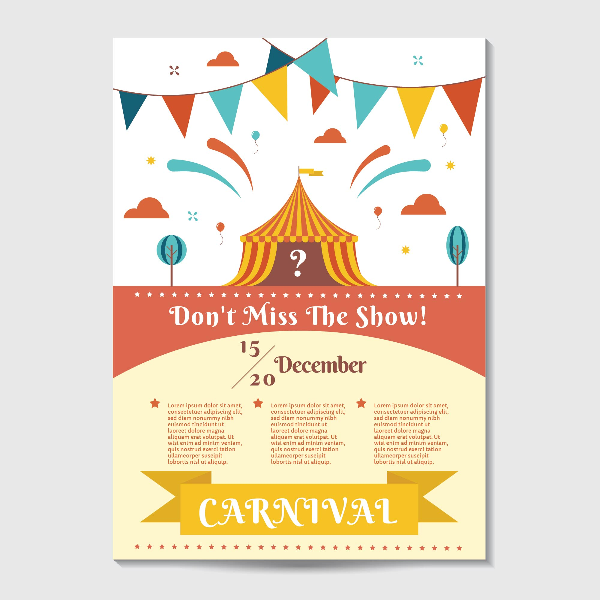 Church carnival poster template