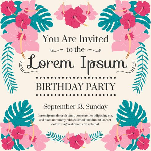 Birthday party invitation vector download free vector art stock birthday party invitation vector stopboris Choice Image