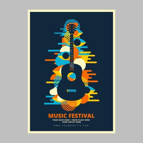 Poster do concerto da música psicadélico