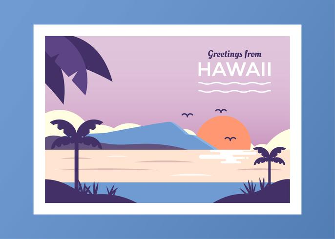 Postcard From Hawaii Vector