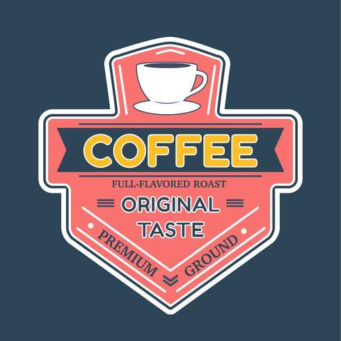 Vecteur de Badge logo café