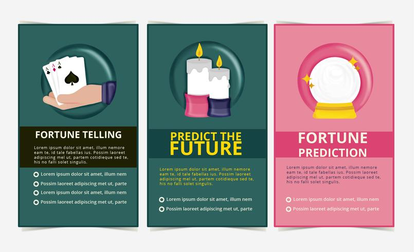Vector Fortune Teller Banners