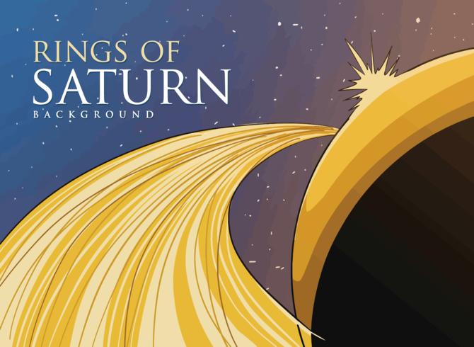 Anneaux de Saturne vecteur