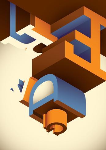 Typographie isométrique