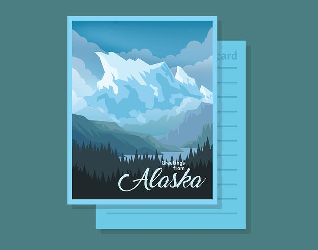 Carte postale de l'Alaska Illustration