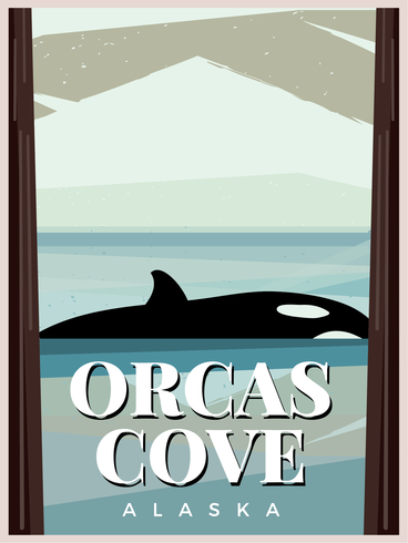 Orcas Cove - Download Free Vector Art, Stock Graphics & Images
