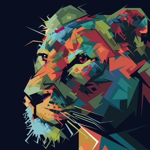 lion reine pop art