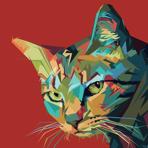 Cat Pop Art Portrait