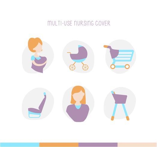 Nursing Breastfeeding Cover Scarf